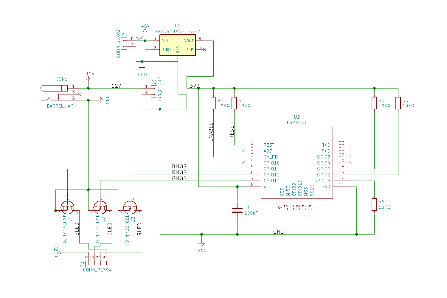 A Wifi Enabled Rgb Led Strip Controller Stavros Stuff Flickering Amplifier Circuit The Schematic