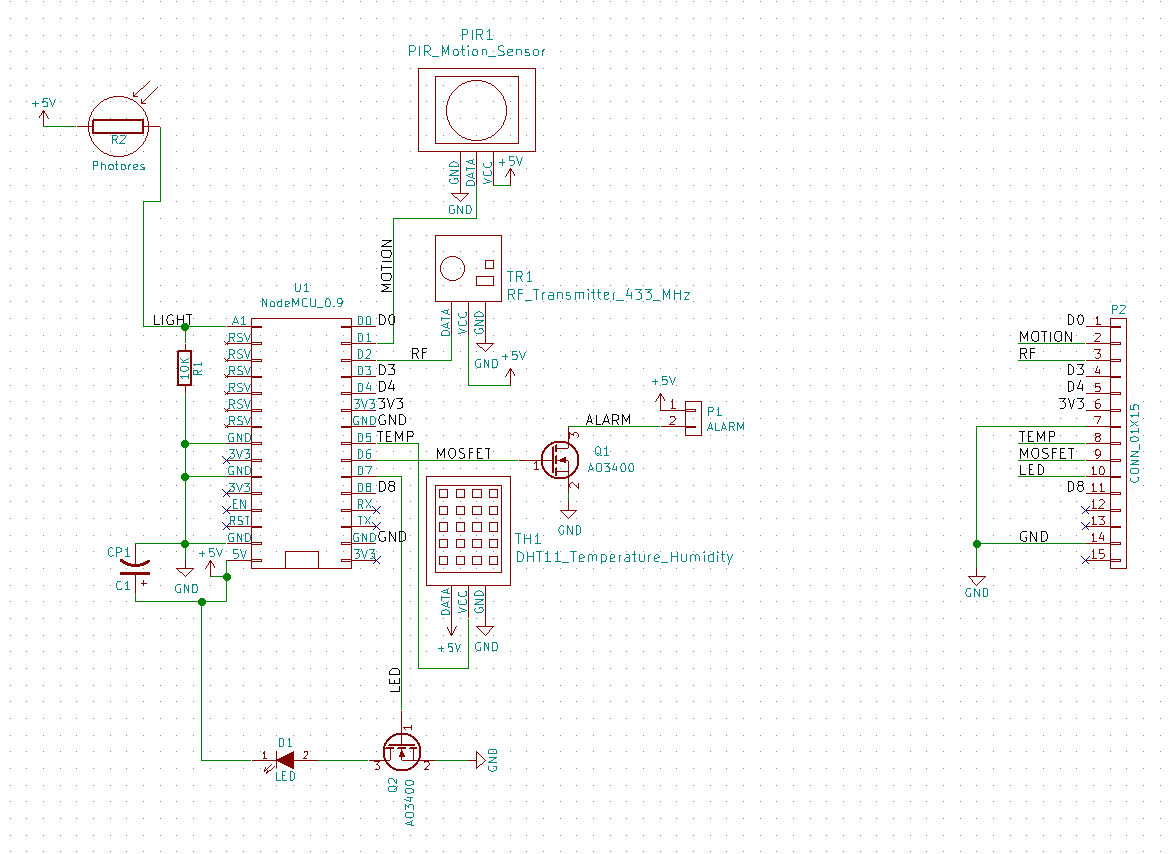 Building A Cheap Home Sensor Controller Stavros Stuff Pir Light Further Alarm Motion Wiring Diagram Also The Circuit